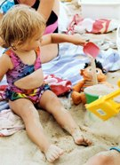 Little Girls At The Beach Image